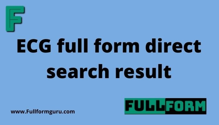 ECG full form direct search result