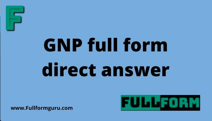 GNP full form direct answer