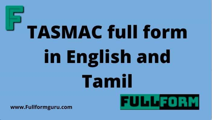 TASMAC full form in English and Tamil