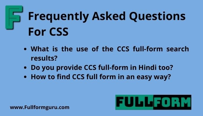 What is the use of css full form in daily life