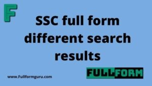 SSC full form different search results