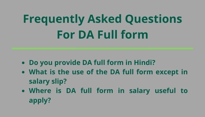 da full form in salary faq