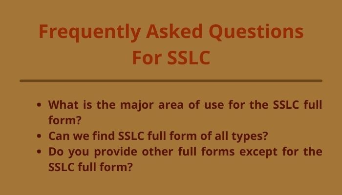 sslc full form and frequently asked question