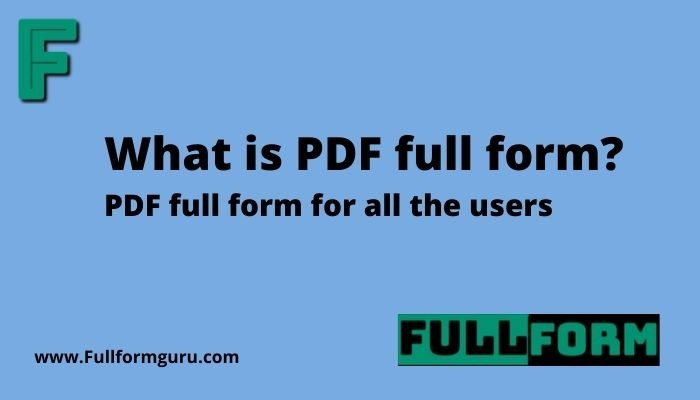 what is pdf full form