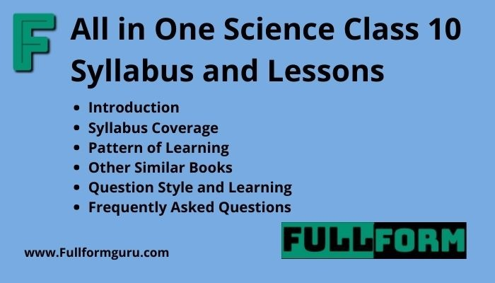 All in One Science Class 10 Syllabus and Lessons
