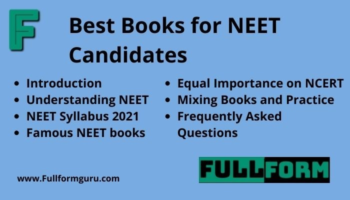 Best Books for NEET Candidates