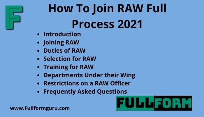 How To Join RAW Full Process