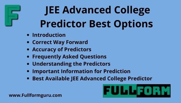 JEE Advanced College Predictor Best Options