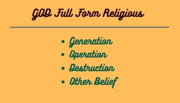 GOD Full Form Religious